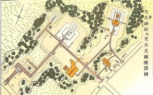 光丘神社及び文庫配置図の画像