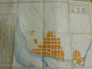 明治27年の震災被害図の写真