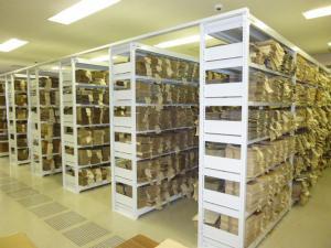 書庫内部の様子の画像